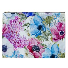Watercolor spring flowers Cosmetic Bag (XXL)