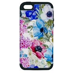 Watercolor spring flowers Apple iPhone 5 Hardshell Case (PC+Silicone)