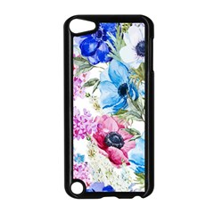 Watercolor spring flowers Apple iPod Touch 5 Case (Black)