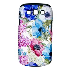Watercolor spring flowers Samsung Galaxy S III Classic Hardshell Case (PC+Silicone)