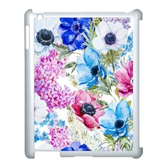 Watercolor spring flowers Apple iPad 3/4 Case (White)
