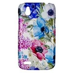 Watercolor spring flowers HTC Desire V (T328W) Hardshell Case