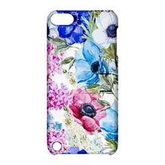 Watercolor spring flowers Apple iPod Touch 5 Hardshell Case with Stand