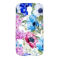 Watercolor spring flowers Samsung Galaxy S4 I9500/I9505 Hardshell Case