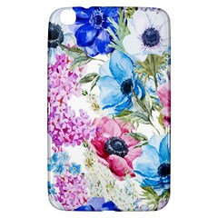 Watercolor spring flowers Samsung Galaxy Tab 3 (8 ) T3100 Hardshell Case