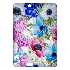 Watercolor spring flowers Amazon Kindle Fire HD (2013) Hardshell Case