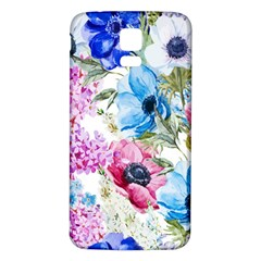 Watercolor spring flowers Samsung Galaxy S5 Back Case (White)