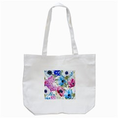 Watercolor spring flowers Tote Bag (White)