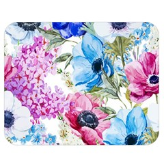 Watercolor Spring Flowers Double Sided Flano Blanket (medium)