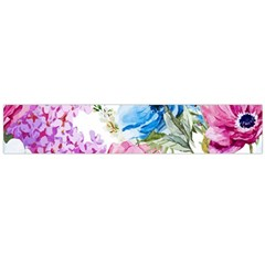 Watercolor spring flowers Flano Scarf (Large)