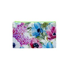 Watercolor spring flowers Cosmetic Bag (XS)