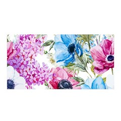 Watercolor spring flowers Satin Wrap