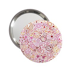 Ornamental Pattern With Hearts And Flowers  2 25  Handbag Mirrors