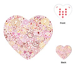 Ornamental pattern with hearts and flowers  Playing Cards (Heart)