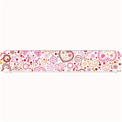 Ornamental Pattern With Hearts And Flowers  Small Bar Mats