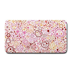 Ornamental Pattern With Hearts And Flowers  Medium Bar Mats