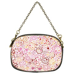 Ornamental Pattern With Hearts And Flowers  Chain Purses (one Side)