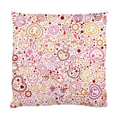 Ornamental Pattern With Hearts And Flowers  Standard Cushion Case (two Sides)