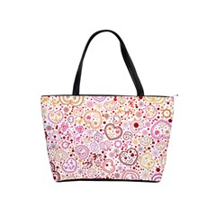 Ornamental Pattern With Hearts And Flowers  Shoulder Handbags
