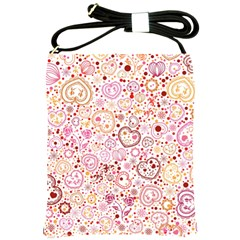 Ornamental pattern with hearts and flowers  Shoulder Sling Bags