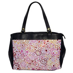 Ornamental pattern with hearts and flowers  Office Handbags