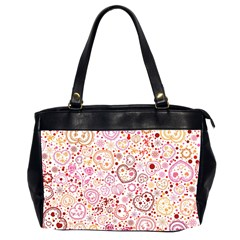 Ornamental Pattern With Hearts And Flowers  Office Handbags (2 Sides)