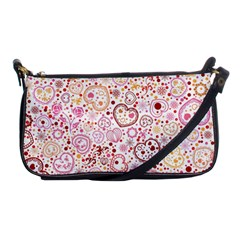 Ornamental pattern with hearts and flowers  Shoulder Clutch Bags