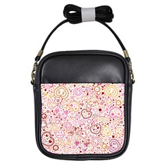 Ornamental pattern with hearts and flowers  Girls Sling Bags