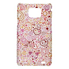 Ornamental pattern with hearts and flowers  Samsung Galaxy S2 i9100 Hardshell Case