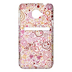 Ornamental pattern with hearts and flowers  HTC Evo 4G LTE Hardshell Case