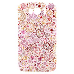 Ornamental pattern with hearts and flowers  HTC Sensation XL Hardshell Case