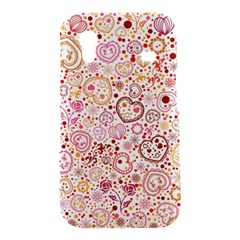 Ornamental pattern with hearts and flowers  Samsung Galaxy Ace S5830 Hardshell Case