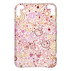 Ornamental pattern with hearts and flowers  Kindle 3 Keyboard 3G