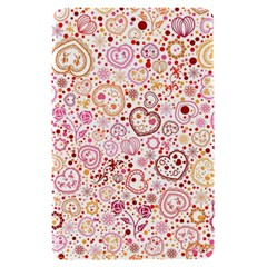 Ornamental pattern with hearts and flowers  Kindle Fire (1st Gen) Hardshell Case