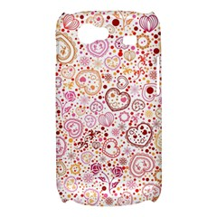 Ornamental pattern with hearts and flowers  Samsung Galaxy Nexus S i9020 Hardshell Case