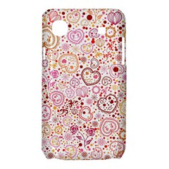 Ornamental pattern with hearts and flowers  Samsung Galaxy SL i9003 Hardshell Case