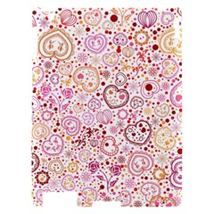 Ornamental pattern with hearts and flowers  Apple iPad 2 Hardshell Case