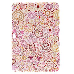 Ornamental pattern with hearts and flowers  Samsung Galaxy Tab 8.9  P7300 Hardshell Case