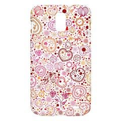 Ornamental pattern with hearts and flowers  Samsung Galaxy S II Skyrocket Hardshell Case