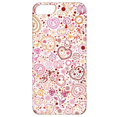 Ornamental pattern with hearts and flowers  Apple iPhone 5 Classic Hardshell Case