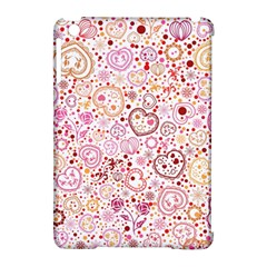 Ornamental pattern with hearts and flowers  Apple iPad Mini Hardshell Case (Compatible with Smart Cover)