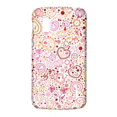 Ornamental pattern with hearts and flowers  LG Nexus 4