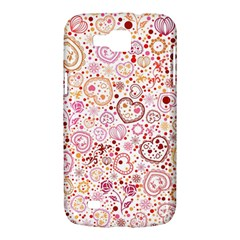 Ornamental pattern with hearts and flowers  Samsung Galaxy Premier I9260 Hardshell Case