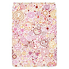 Ornamental pattern with hearts and flowers  Flap Covers (L)