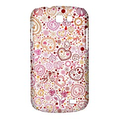 Ornamental pattern with hearts and flowers  Samsung Galaxy Express I8730 Hardshell Case
