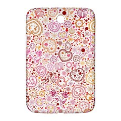 Ornamental Pattern With Hearts And Flowers  Samsung Galaxy Note 8 0 N5100 Hardshell Case
