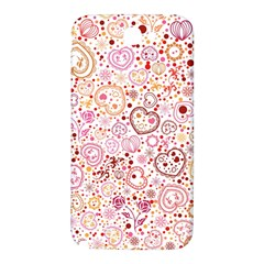 Ornamental pattern with hearts and flowers  Samsung Note 2 N7100 Hardshell Back Case