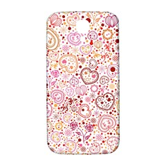 Ornamental Pattern With Hearts And Flowers  Samsung Galaxy S4 I9500/i9505  Hardshell Back Case