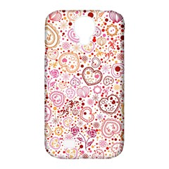 Ornamental Pattern With Hearts And Flowers  Samsung Galaxy S4 Classic Hardshell Case (pc+silicone)