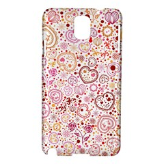 Ornamental pattern with hearts and flowers  Samsung Galaxy Note 3 N9005 Hardshell Case